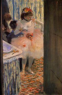 EDGAR DEGAS — Dancer in Her Dressing Room  1880 Edgar Degas