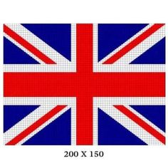 COZYCONCEPTS UNION JACK BRITISH FLAG CROCHET PATTERN GRAPH AFGHAN CROSS STITCH CHART | CozyConcepts - Patterns on ArtFir
