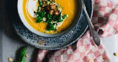 sweet potato & carrot soup with ras el hanout