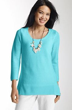textured island pullover