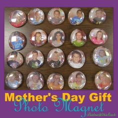 Preschool Mothers Day gift, kindergarten Mothers Day gift, preschool magnet for Mothers Day, photo magnet