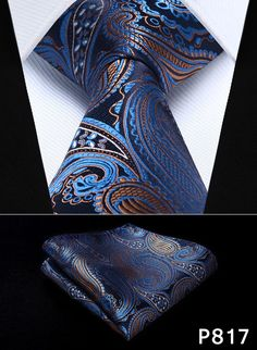 "Pocket Square Classic Party Wedding Paisley Floral 3.4""Silk Woven Wedding Men Pocket Tie Necktie Handkerchief Set#P8"