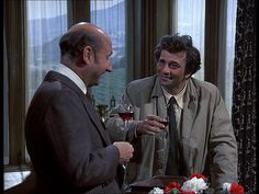 """Peter Falk and Donald Pleasence- Columbo - """"Any Old Port in a Storm."""" 1973"""