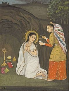 "The Annunciation to the Theotokos is one of the Great Feasts of the Orthodox Church, celebrated on March 25. According to the Gospel of Luke 1:26-38, the Archangel Gabriel appeared to Mary to announce to her that she would conceive and bear a son, even though she ""knew no man."" According to holy tradition, Mary had come home to her parents from the Temple when she was only fifteen when she was visited by the Archangel Gabriel."