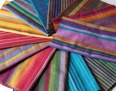 shot cotton stripes from Bolt. Would make fun quilt binding cut across the width.