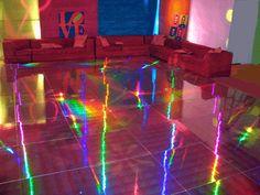 THIS FLOOR!!! Metallic Wallpaper | Holographic Vinyl | Reflective Vinyl | Metallic Vinyl www.instagram.com/iloveshopcandy