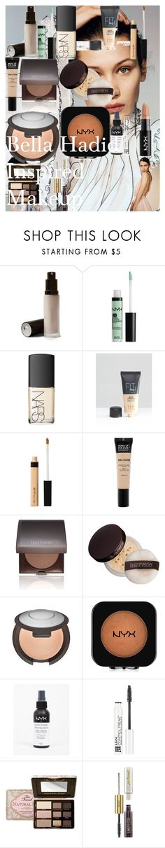 Bella Hadid Inspired Makeup by oroartye-1 on Polyvore featuring beauty, NARS Cosmetics, Too Faced Cosmetics, Laura Mercier, Becca, MAKE UP FOR EVER, tarte, Maybelline and NYX