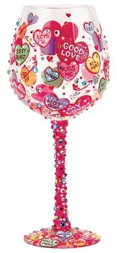 """Conversations"" Super Bling Wine Glass by Lolita (Hula Island)"