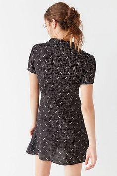 UO Mallory Button-Down Mini Dress