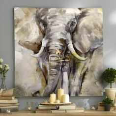 Fauna Eyes of Ivory - Decorative Oil Paintings - Martin Glyn Jones Photography - - Fauna Eyes of Ivory - Decorative Oil Paintings - Martin Glyn Jones Photography Oil Painting On Canvas, Canvas Art, Painting Art, Underwater Painting, Elephant Canvas, Art Deco Design, Wildlife Art, Animal Paintings, Art Oil