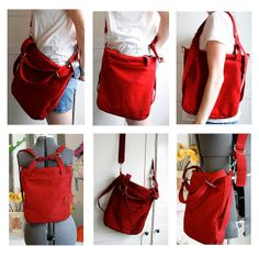 a day in the park backpack tote by parrishplatz. added an extra strap for cross body option