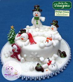 Snowman snowball fun