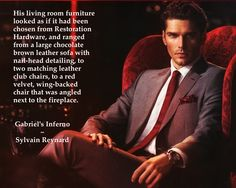 Red velvet chair from #GabrielsInferno #GabrielsRapture by @sylvain Reynard