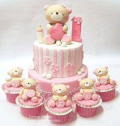 torta baby shower nena ositos