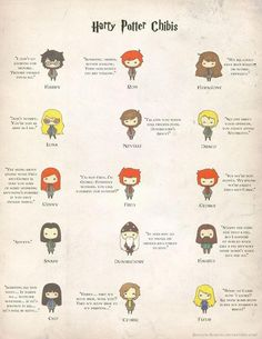 Harry Potter chibis. I totally read these in their voices. ;P