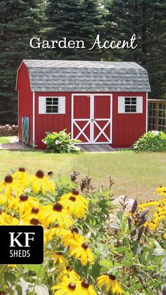 Garden Accent Farm Shed, Shed Design, Built In Storage, Sheds, Outdoor Structures, Patio, Garden, Shed Houses, Garten