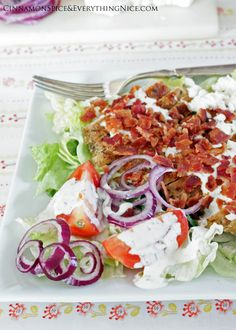 BLT Chicken Salad- Oh my! My absolute favorite salad ever!!! Could eat this everyday!
