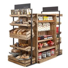 Artisan Crate Shop Interiors Linkshelving interiors Farmshop & Deli, Grocery interiors, Visitor attractions Gift shops, Bakery fruit & Veg, Grocers & … - new site Bakery Design, Cafe Design, Interior Design, Interior Architecture, Shop Shelving, Bakery Display, Coffee Shop Design, Rustic Coffee Shop, Retail Store Design