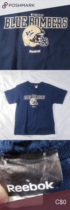 WINNIPEG BLUE BOMBERS T-SHIRT BY REEBOK Blue Bombers t-shirt Reebok size medium youth Reebok Shirts & Tops Tees - Short Sleeve Winnipeg Blue Bombers, Reebok, Youth, Medium, Plus Fashion, Tees, Sleeve, Mens Tops, T Shirt