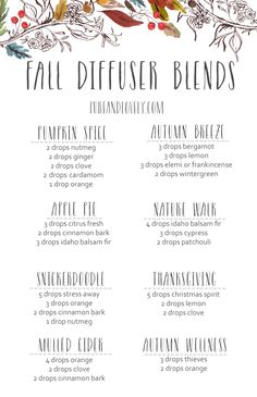 Instead of candles, try fall essential oil blends to scent your home! See our fall diffuser blends and order essential oils.