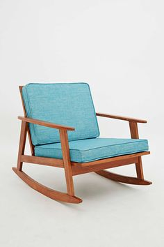 Mid Century Rocking Chair in Turquoise - Urban Outfitters