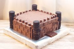 Tarta castillo de chocolate