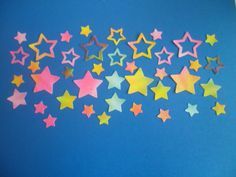 40 Glitter Tie Dye Stars by ang744 on Etsy, $3.00