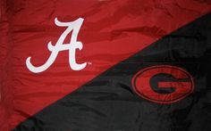 Alabama and Georgia House Divided Hand Sewn Flag with sleeve or grommet finish for $64.99