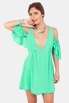 Salsa Dancer Backless Mint Dress at LuLus.com!
