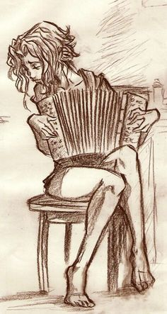 the morning is here, you have your coffe and cigarette, the girl you love is playing for you some irish song with her accordion. and suddendly you rea. accordion in the morning Accordion Sheet Music, Accordion Instrument, Button Accordion, Tatoo Styles, Music Pics, Blues Music, Color Studies, Illustrations, Music Illustration