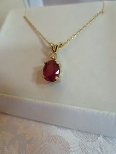 Genuine Red Rubie Oval 14kt Yellow Gold With A Two by RLGems