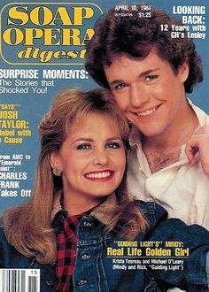 Rick and Mindy on the cover of Soap Opera Digest