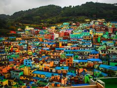 Gamcheon Culture Village - The colorful walls @ Gamcheon Culture Village (Busan, South Korea). This place has many nicknames … Korea's Santorini, Korea's Machu Picchu, Lego Village etc.
