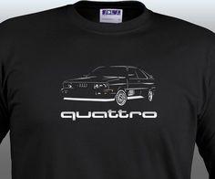 AUDI QUATTRO T Shirt Classic Rally Legent Sport RS4 TT  S - 5XL  + Long Sleeve #SOLS #BasicTee