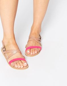 Image 1 of ASOS FLASK Strappy Leather Sandals
