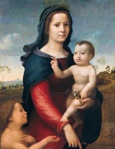 Giuliano Piero Di Bugiardini  (1475-1555)  — The Madonna and Child With the Infant Saint John the Baptist, 1515 (540×699)