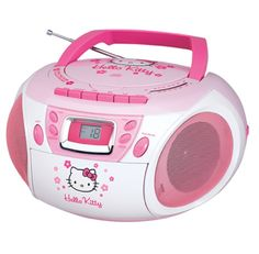 Hello Kitty Stereo CD Boombox with Cassette Player/Recorder and AM/FM RadioFeatures * Top Loading CD Player with 20 Track Programmable Memory * CD-R/RW Compatib Hello Kitty Items, Boombox, Cute Icons, App Icon, Best Mom, Sanrio, Homescreen, Just In Case, Childhood