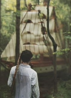 .A ship in a forest... shouldn't it be a forest in a ship (or is that just my Whovian showing?)