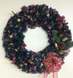"16"" Christmas wreath by PensPreciousTreasure on Etsy"