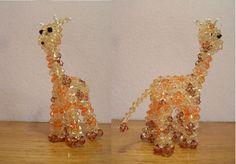 3D Beaded Giraffe by leanne80.deviantart.com on @deviantART