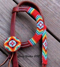 Custom Designed Beaded Horse Bridle On Etsy! $350.00