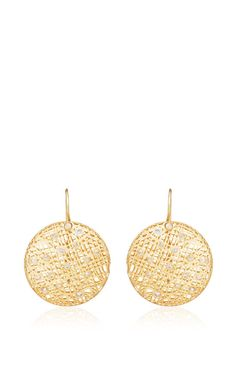 Medium Lace Earrings in 18k gold With Champagne Diamonds by Yossi Harari - Spring-Summer 2015 (=)
