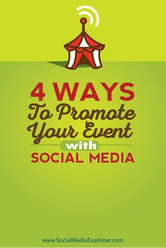 Do you have an upcoming event? Want to get the word out about dates and ticket sales? Promoting your event with social media lets you create awareness, visibility and community. Event Marketing, Facebook Marketing, Marketing Tools, Internet Marketing, Online Marketing, Social Media Marketing, Digital Marketing, Viral Marketing, Marketing Ideas