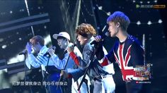 "NCT U performing ""Without You."" Members left to right: Doyoung, Kun, Jaehyun, and Taeil"