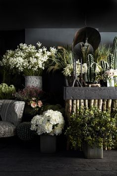 Find inspiration for you own home décor with the queen of the cool and quirky and a pioneer of the vintage movement, Abigail Ahern! Flower Shop Interiors, Store Interiors, Dark Interiors, Interior Simple, Flower Studio, Garden Shop, Faux Flowers, My New Room, Planting Flowers