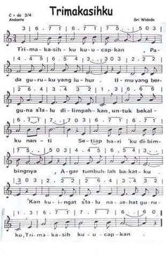 Lagu Anak Anak Dengan Not Angka : dengan, angka, NOTASI, Lagu,, Musik,, Pianika