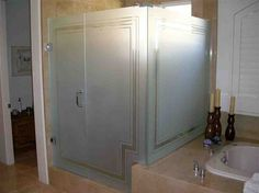 Shop frosted glass doors and other etched glass products like interior, pantry, and shower doors, decorative windows & tables. Design your frosted glass product from hundreds of options today! Frosted Shower Doors, Glass Shower Panels, Frosted Glass Interior Doors, Frosted Glass Door, Glass Shower Enclosures, Glass Doors, Glass Bathroom Door, Master Shower, Master Bathroom