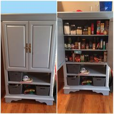 Ordinaire I Used An Old TV Armoire And A Little Inspiration From The Link Provided  And Turned It Into Extra Cabinet Space For My Kitchen.