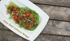 Tangy beef and sesame noodles, all wrapped in a piece of cool, crisp lettuce. Beef Lettuce Wraps, Asian Recipes, Ethnic Recipes, Tasty Kitchen, Recipe Community, Asian Cooking, Main Dishes, Healthy Eating, Favorite Recipes