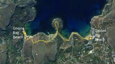 Coastal hike from Gnejna Bay beach to Golden Bay beach.